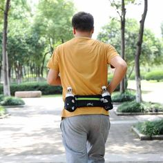 SPORTS RUNNING BELT BAG WITH 2 WATER BOTTLE