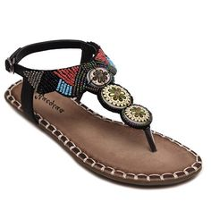 Leisure Beading and Stitching Design Women's Sandals #jewelry, #women, #men, #hats, #watches, #belts, #fashion
