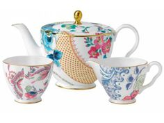 Wedgwood Butterfly Bloom 3-Piece Teaset