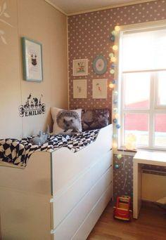 seng bygget på Malm kommode fra IKEA | children's room | Pinterest ...
