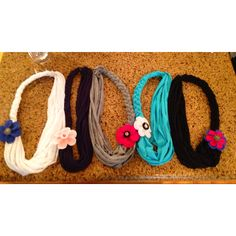DIY braided scarves from t shirts.