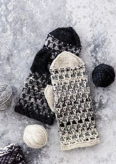 Lapaset jämälangasta / Miitens from coarse yarn Knitted Mittens Pattern, Knit Mittens, Knitted Gloves, Knitting Socks, Hand Knitting, Knitting Patterns, Knit Crochet, Crochet Hats, Fingerless Mittens