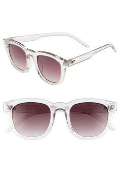 Transparent retro sunglasses. | @Nordstrom