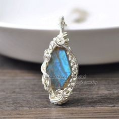 Labradorite necklace Wire wrapped labradorite pendant silver wire stone gemstone jewelry natural flash labradorite necklace unique gift by somethingsepical on Etsy https://www.etsy.com/listing/255924976/labradorite-necklace-wire-wrapped