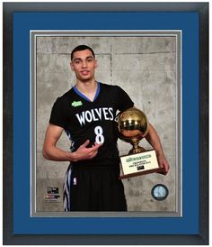 ff6d7810850 Zach LaVine Minnesota Timberwolves with the 2015 NBA Slam Dunk Contest  Trophy 2015 All-Star