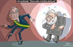 Charge do Dum (Opinião) sobre a condenação de Lula (13/07/2017) #Charge #Dum #Política #Temer #MichelTemer #Presidente #Lula #Condenado #Condenação #HojeEmDia