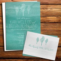 Tree Wedding Invitation by kxodesign on Etsy, $4.50
