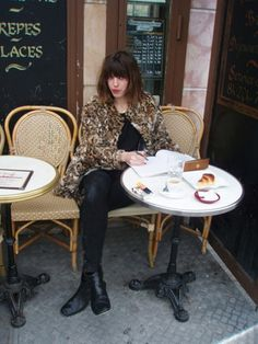 French Girl Cool: Lou Dillon   #cafe #paris #streetstyle
