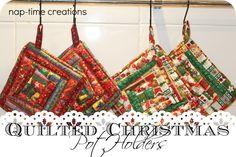 Christmas Potholders {tutorial}