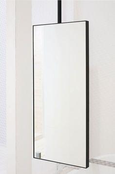 Ceiling-mounted bathroom mirror / contemporary / rectangular / metal ARGO by APG Studio Ceramica Cielo Blue Bathroom Paint, Bathroom Colors, White Bathroom, Bathroom Ideas, Bad Inspiration, Bathroom Inspiration, Modern Bathroom, Master Bathroom, Mirror Bathroom