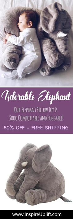 Adorable Elephant Plush Toy Pillow InspireUplift Adorable Elephant Plush Toy Pillow InspireUplift Beateschwieger Sternzeichen Adorable Elephant Plush Toy Pillow InspireUplift So cute and nbsp hellip Elephant Pillow, Baby Elephant, Cute Pillows, Baby Pillows, Crochet Bebe, Heart For Kids, Baby Crafts, Baby Shower Gifts, Barn