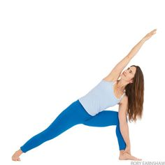 extended side angle pose Pilates, Standing Yoga Poses, Side Angle Pose, Strengthening Yoga, Massage, Yoga For Back Pain, Best Cardio, Yoga Journal, Yoga Poses For Beginners