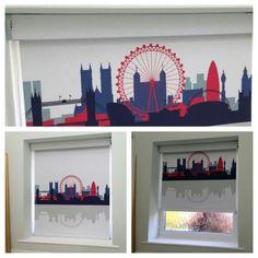 Cityscape London Senses Roller Blind #hannanblinds