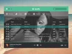 Spotify Flat - Web app interface UI UX http://www.evincedev.com/technologies