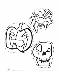 Worksheets: Halloween Cut-Outs