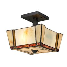 Paragon Dark Bronze Two Light 9.5-Inch Flush Mount