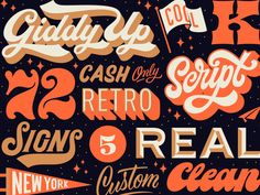 Putting together some recent lettering projects. Groovy as hell.
