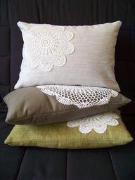 doily throw pillows