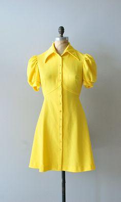 70s mini dress / 1970s dress / Oh Marigold dress. $38.00, via Etsy.