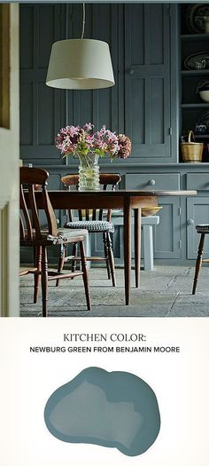 Kitchen Cabinet Paint Color Ideas. Newburg Green Benjamin Moore. #BenjaminMooreNewburgGreen POPSUGAR Home