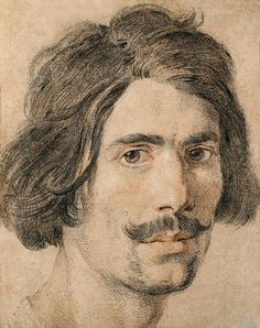 Gian Lorenzo Bernini Self-Portrait, c. Black and red chalk, heightened with white on brown paper Ashmolean Museum of Art and Archaeology, Oxford Caravaggio, Trois Crayons, Self Portrait Drawing, Gian Lorenzo Bernini, Italian Sculptors, Italian Artist, Art Graphique, Rembrandt, Famous Artists