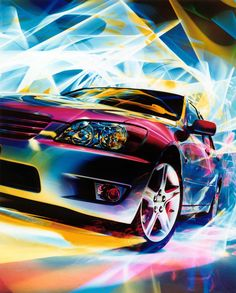 Light Painting - Light Art - Patrick Rochon - Toyota Altezza - Japan - 1998