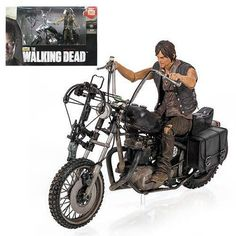 Mcfarlane Walking Dead Daryl Dixon Chopper Motorcycle Deluxe Box Set