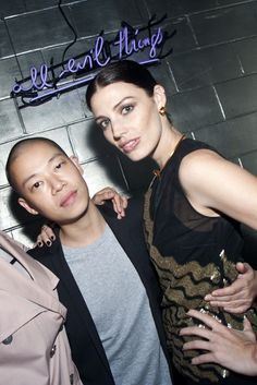 Jason Wu and Jessica Paré at SS14 afterparty