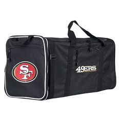 NFL San Francisco 49ers 28 Steal Duffle Bag - Black