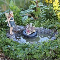 Swimming Hole Pond for Miniature Mini Fairy by IttyBittyLandscapes