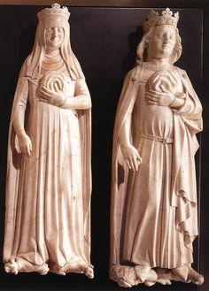 Jeanne d'Evreux and Charles IV 1370-72 Marble Musée du Louvre, Paris