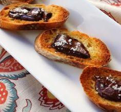 Chocolate Food-Chocolate Sea Salt Crostini