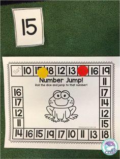 Teaching Teen Numbers, Number Games Kindergarten, Student Numbers, Numbers Preschool, Math Numbers, Preschool Math, Math Activities, Pre Kindergarten, Teaching Math