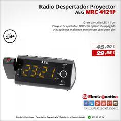 ¡Haz que tus mañanas comiencen con buen pie!  Radio despertador proyector AEG MRC 4121P http://www.electroactiva.com/aeg-radio-despertador-proyector-mrc4121p.html #Elmejorprecio #Despertador #Chollo #Electronica #PymesUnidas