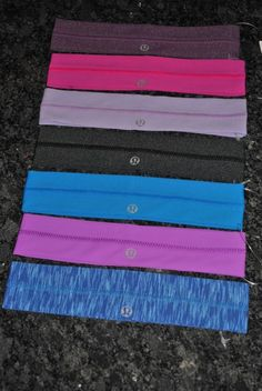 lululemon headband Lulu Lemon hair fly away tamer blue black purple grey new NWT