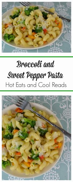 A fresh, meatless pasta that's great for any weeknight! Ready in less than 30 minutes! Broccoli and Sweet Pepper Pasta from Hot Eats and Cool Reads!