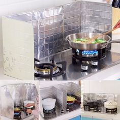 Anti-splatter Shield Guard Cooking Frying Pan Oil Splash Screen Household Gadget #antisplatter  #oilguard #cooking