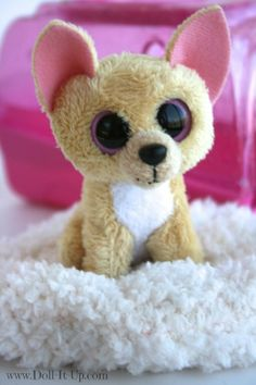 """Ty Beanie Boos keychain- a great pet for 18"""" dolls"""
