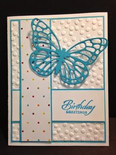 My Creative Corner!: A Wetlands and Butterfly Framelits Birthday Card