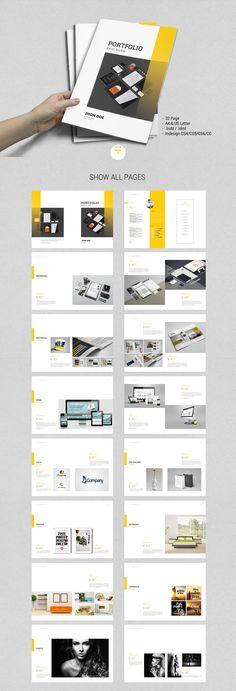 Bundle – Graphic Design Portfolio by tujuhbenua on Creative Market – Design Portfolio Layout, Graphic Portfolio, Page Layout Design, Printed Portfolio, Graphic Design Cv, Brochure Design, Graphic Design Portfolios, Portfolio Booklet, Architecture Portfolio
