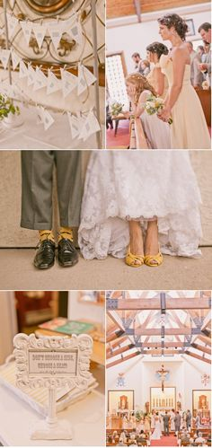 looks like a cute weeding, with mustache socks