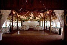 Lighting for a barn wedding