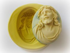 Jesus Cameo Mold Clay Resin Fondant Moulds