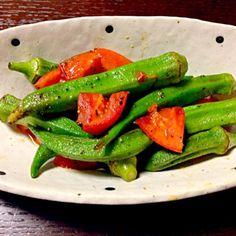 エスニックが食べたくて… - 10件のもぐもぐ - オクラとトマトのエスニック炒め by kyuko