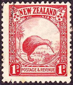 Have a look on this New Zealand Kiwi Stamp from 1935. Here's how postage stamps were originated.