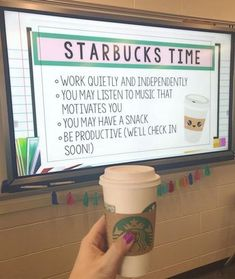 On Friday, I tried something new called 'Starbucks Time' Students worked on . - On Friday, I tried something new called 'Starbucks Time' Students worked on their vocabulary in - 5th Grade Classroom, Middle School Classroom, Classroom Design, Future Classroom, Highschool Classroom Decor, Decorating High School Classroom, Year 6 Classroom, Elementary Science Classroom, Middle School Ela