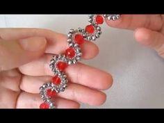 браслет змейка из бисера и кристаллов. люпетра. - YouTube