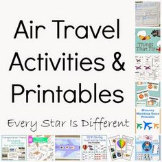 Air Travel Activities & Printables (KLP Linky) - Every Star Is Different
