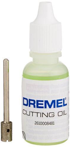 Dremel Glass Drilling Bit with Cutting Oil New Sealed - Before After DIY Dremel Bits, Dremel Werkzeugprojekte, Dremel Wood Carving, Dremel Rotary Tool, Dremel 4000, Dremel Tool Projects, Dremel Ideas, Jewelry Tools, Cool Tools