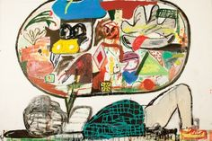 Anti-Academic Painter Eddie Martinez Has Big Brushes, Big Id.- Anti-Academic Painter Eddie Martinez Has Big Brushes, Big Ideas Backlooker, Eddie Martinez - Eddie Martinez, Graffiti Cartoons, Sculpture Painting, Outsider Art, Street Artists, Contemporary Paintings, American Artists, Art Lessons, Illustration Art